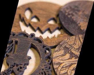 halloween circular wood cuts