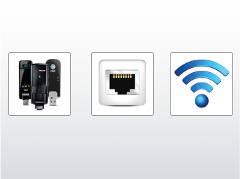 WiFi, USB, Ethernet